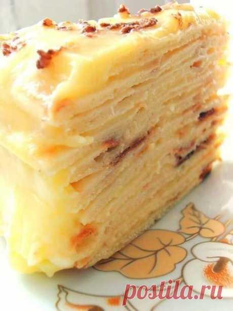 Сказочно вкусный торт с творожным заварным кремом