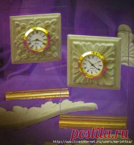 Как обновить часы - декор из полимерной глины - фото МК