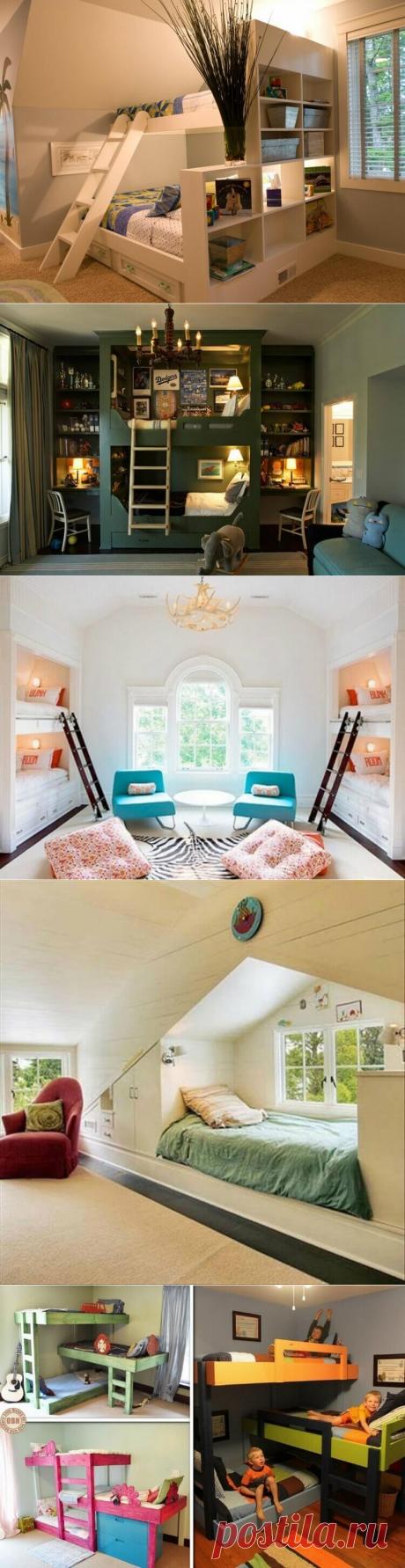 De 19 camas admirables y los dormitorios para las familias grandes y los espacios minúsculos