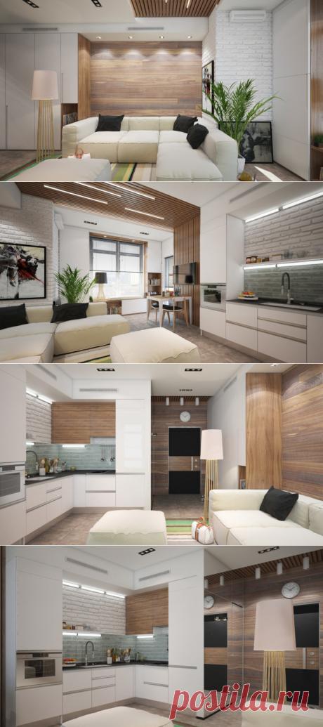 Компактно и комфортно: уникальная студия в эко-стиле площадью всего 29 кв м | Мой дом