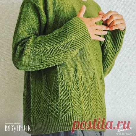 Красивый и необычный узор для пуловеров | Вязание для женщин спицами. Схемы вязания спицами
