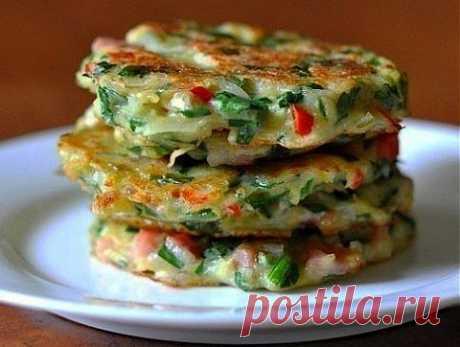 Драники с овощами | Банк кулинарных рецептов