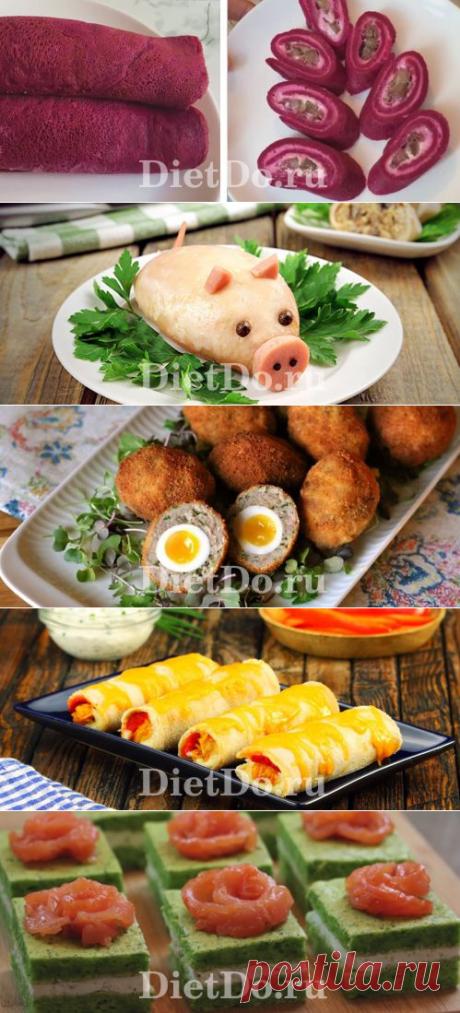 Легкие закуски на праздничный стол: ТОП-15 рецепты с фото простые и вкусные