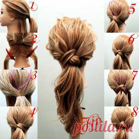 Instructions for creation of stylish festive and daily hairdresses