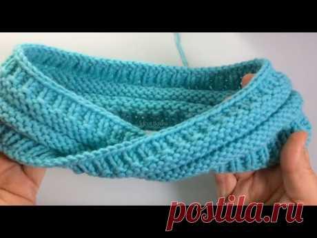 Бесконечный шарф или Лента Мёбиуса. Вязание спицами