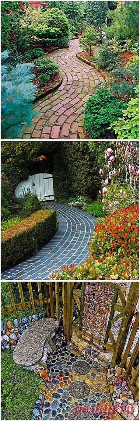 15 красивых садовых дорожек для вашего сада - Учимся Делать Все Сами