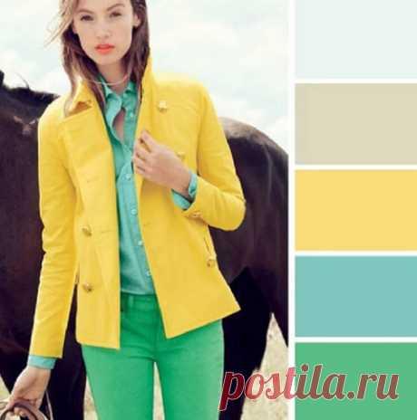 15 примеров идеального сочетания цветов в одежде…
