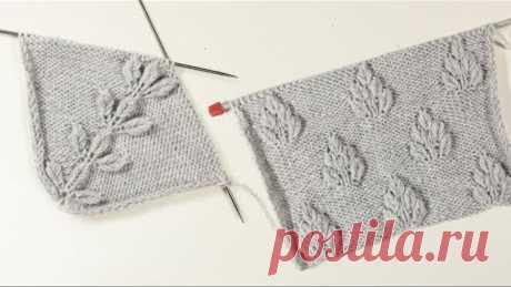 Интересная и простая линия реглана спицами / Knitting DIY