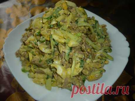Салат с жареными вешенками, мясом, яйцом и огурцом: рецепт с пошаговым фото