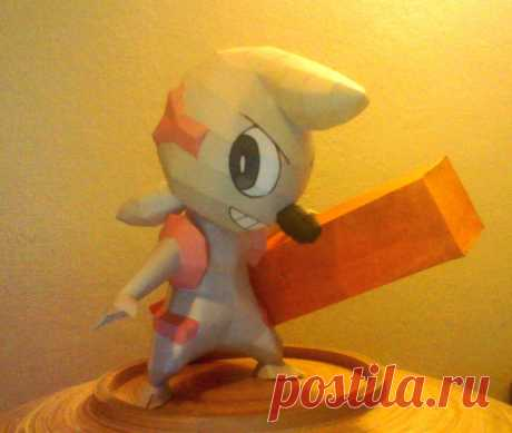 Timburr papercraft Timburr papercraft. Designed and built by me. The template will be dowloadable soon. This is the download www.mediafire.com/?7hqnf3742yv…