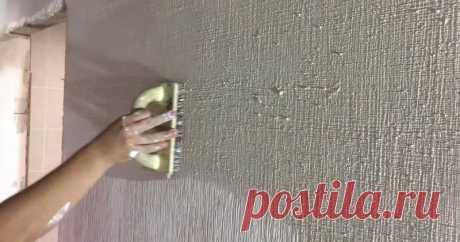 Декор стены под мешковину — очень просто и красиво ...