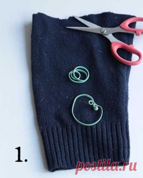 Гномик из верха носка или низа рукава — DIYIdeas