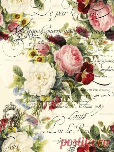 Розы для декупажа / Модное Настроение