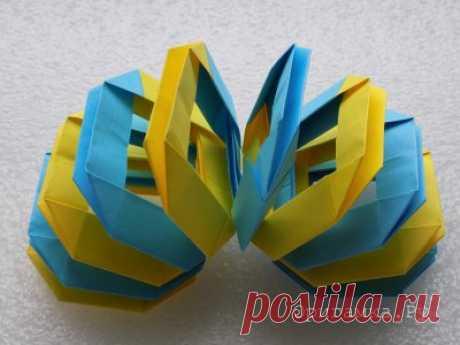 Складывание фигурок техникой модульное оригами с пошаговыми фотографиями. » Страница 2