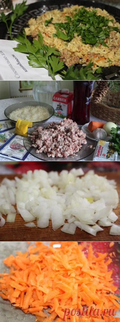 Рис с фаршем - как приготовить на сковороде, рецепт с фото пошагово