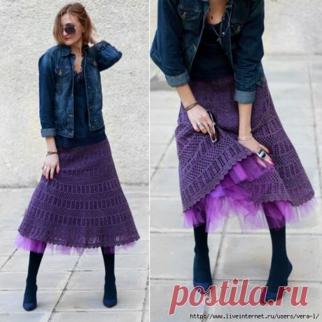 Пять моделей летних юбок вязаных крючком | Модное вязание | Яндекс Дзен