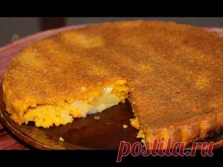 Тыквенный пирог с ЯБЛОКАМИ! Ну, оОчень вкусно!