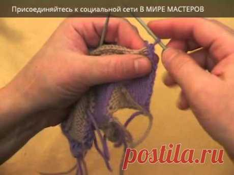 Вязание спицами. Энтрелак часть 4