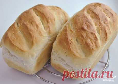 White loaf in an oven - the step-by-step recipe from a photo on Повар.ру