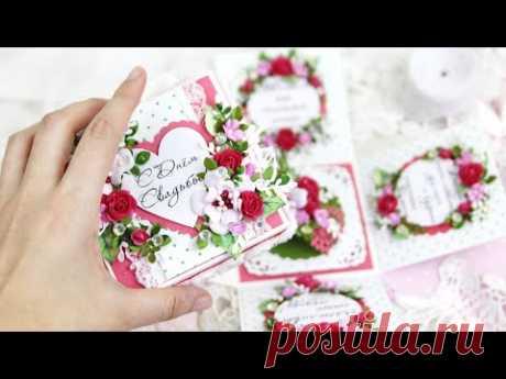 Процесс создания: Свадебная коробочка с сюрпризом/коробочка своими руками / wedding Explosion Box