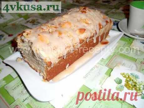 Яблочный кекс под карамельным соусом | 4vkusa.ru