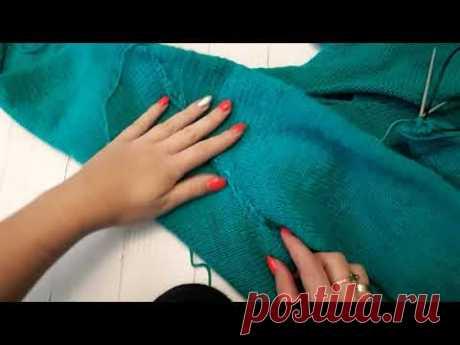 Втачной рукав спицами. Секреты вязания рукава | Вязание спицами для начинающих