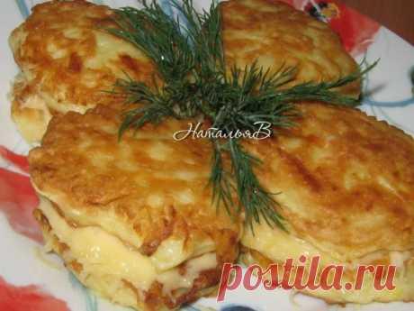 Шикарное блюдо — Кабачковые сэндвичи с сырной начинкой