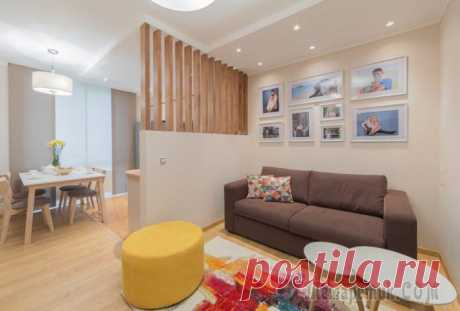 "Interior design of the three-room apartment of 77 sq.m in ZhK \""Rest\"""