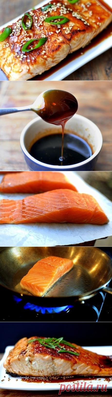 Как приготовить лосось в глазури из соевого соуса. - рецепт, ингридиенты и фотографии