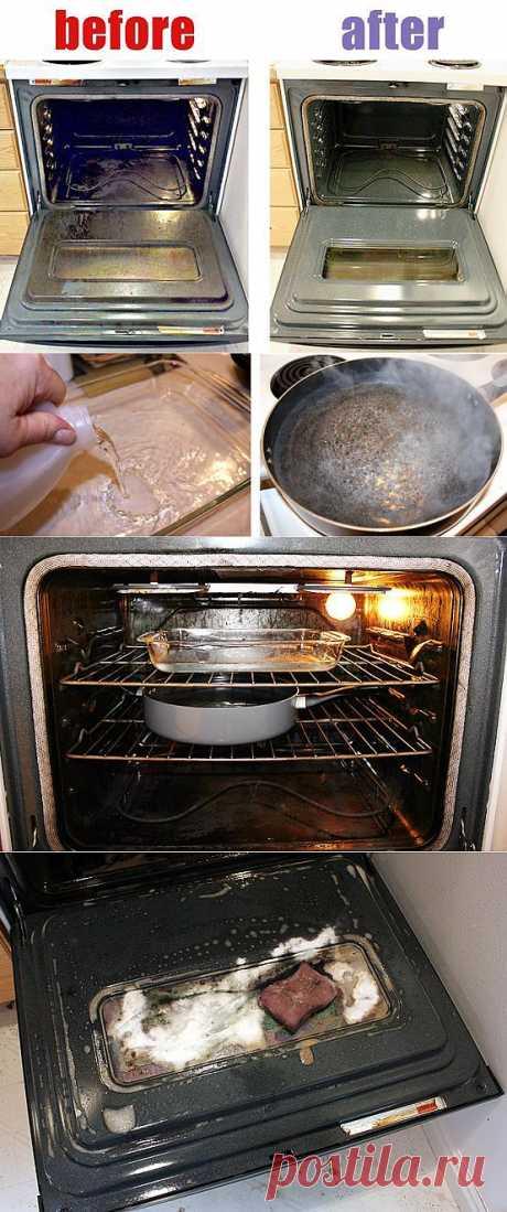 Как быстро отмыть духовку.