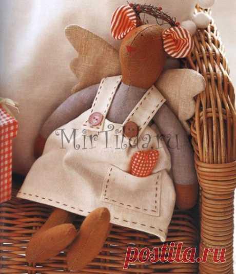 Мышка тильда ангелок - мастер класс с выкройками для одежды