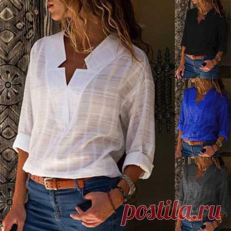 Блузка с неправильными лацканами