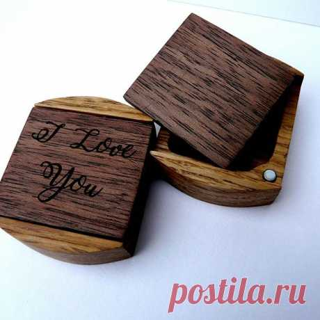 Подарочные коробочки для колец или ценных монет.  Дерево - дуб и орех #коробочка #коробочкадляколец #коробочкадляденег #подарок #помолвка #свадьба