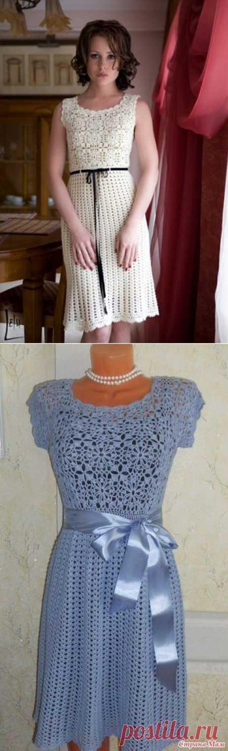 Платье крючком..