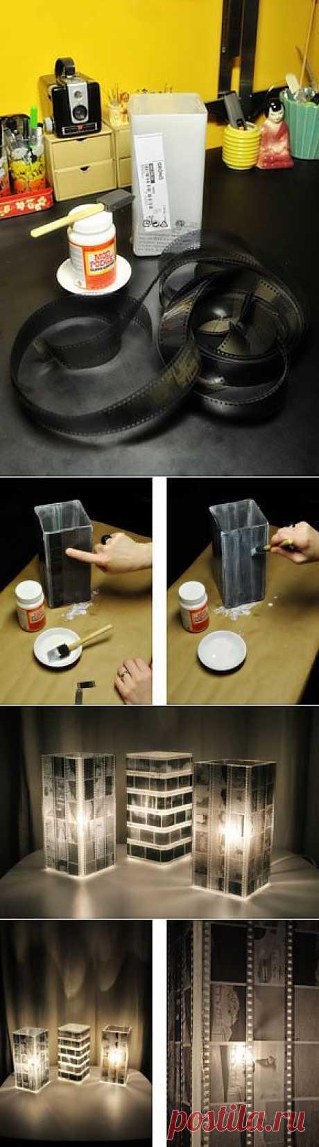 (+1) сообщ - Декоративный светильник из ч/б пленки своими руками | МАСТЕРА