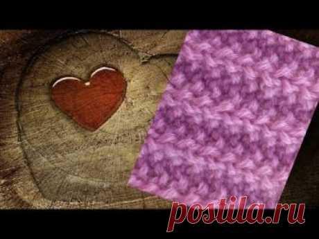 Узор спицами Польская резинка. Knitting pattern Polish gum - www.fassen.net-Видео сёрфинг