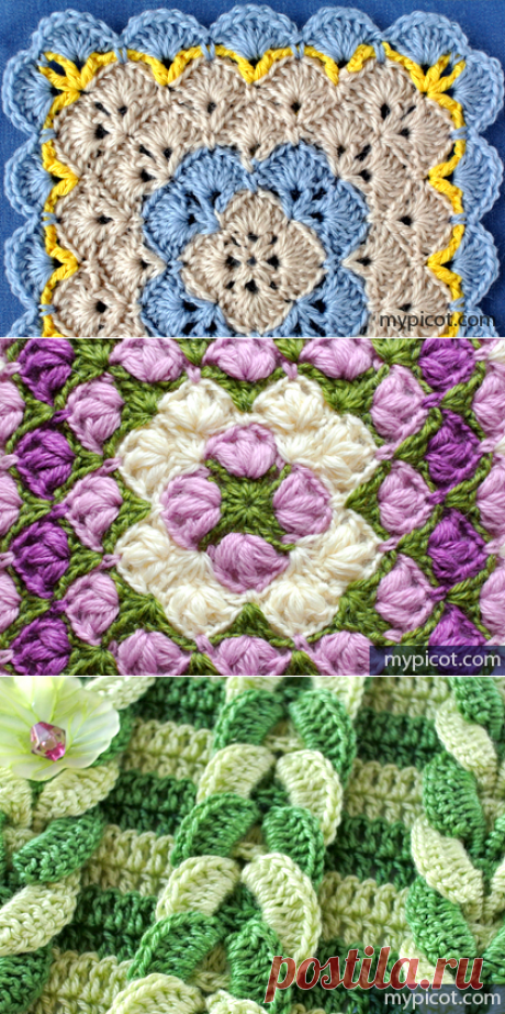Set of patterns a hook, with the detailed description\u000d\u000aMyPicot | Free crochet patterns