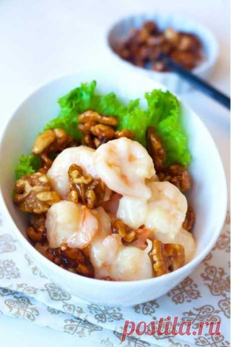 Креветки с мёдом и грецкими орехами рецепт с фото - Приглашаем к столу