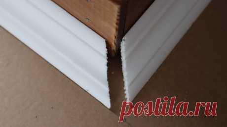 Мастер дал полезные советы, как резать потолочный плинтус в углах. Получается ровно с первого раза | Шебби-Шик | Яндекс Дзен