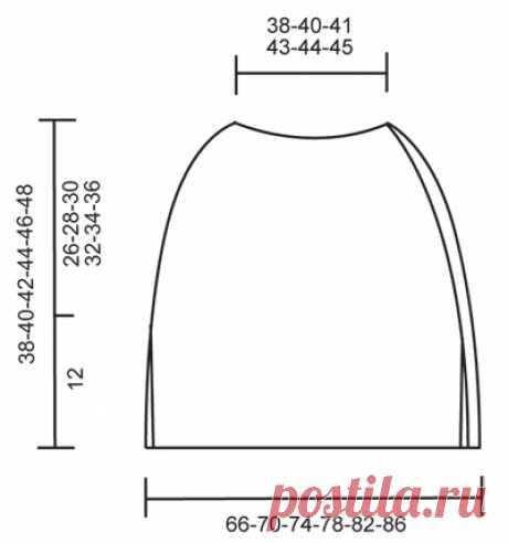 Схема вязания Пончо: Первое свидание DROPS 154-4 First date