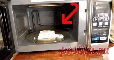 Без лимона, уксуса и мыла: просто положите это в микроволновку, чтобы очистить её ...