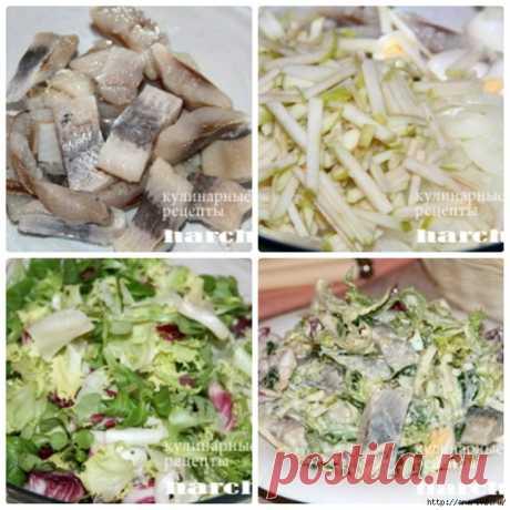Легкий салатик из сельди