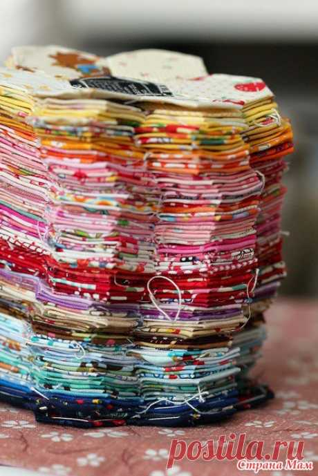 Pechvork sobre el modelo de papel (English Paper Piecing), MK - la Costura De pedazos - el País de las Mamás