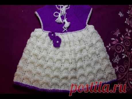 2-Платье  спицами на рост от 75см/baby dress knitting needles