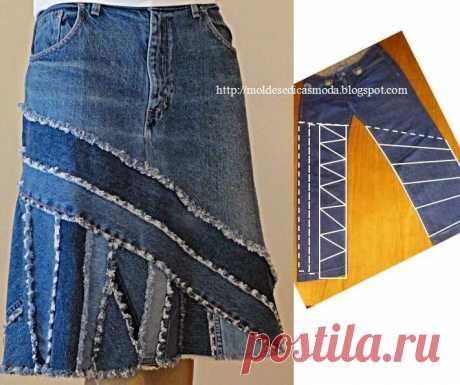 из старых джинсов! + идеи переделок.