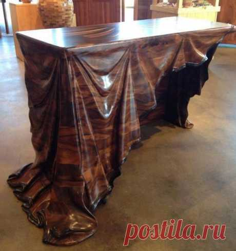 #арт@made_in_hand  Деревянный стол, который сделан настоящим мастером!