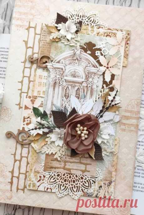 """В работе использованы цветы и листики от @vikferd , вырезанные элементы от @_summer_studio_ , коллекция """"Ренессанс""""."""