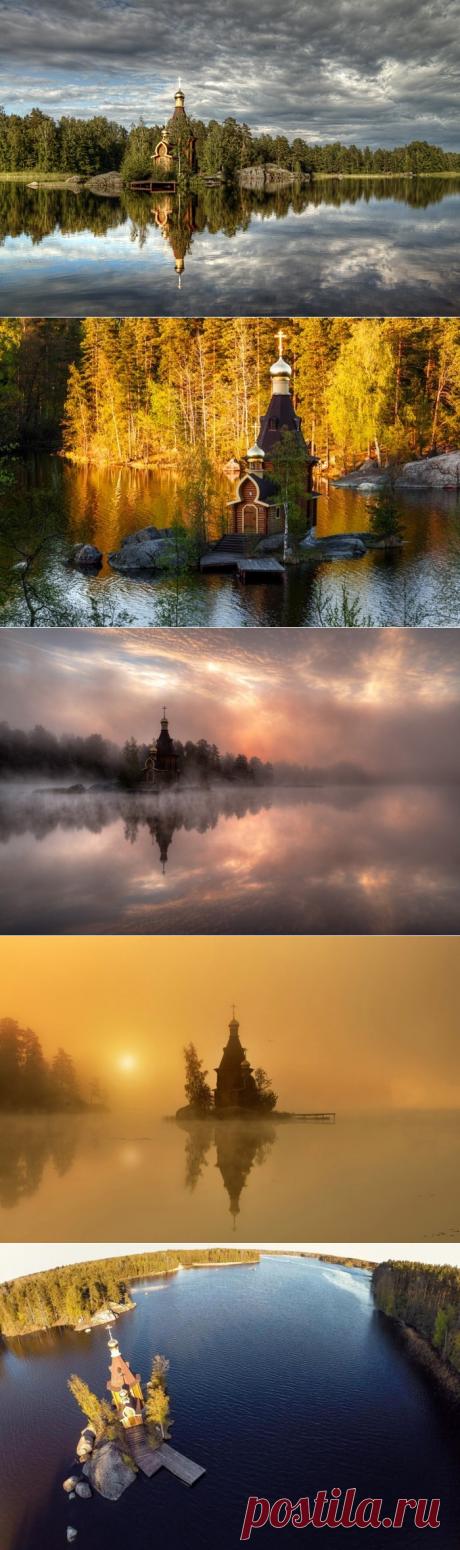 Русская церковь сказочной красоты, построенная на острове-скале - Путешествуем вместе