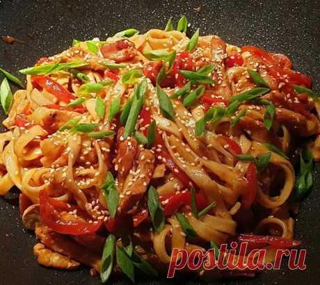 Самая вкусная сочная лапша с курицей в соусе. Японская кухня - Кухня и дом - медиаплатформа МирТесен