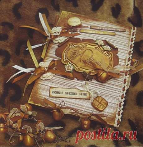 """Табличка для декора блокнота в стиле """"скрапбукинг"""